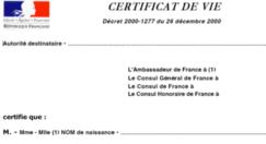 Certificat de vie : démarche simplifiée
