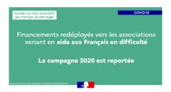 Redéploiement des crédits du dispositif de soutien au tissu associatif des Français à l'étranger (STAFE)