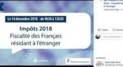 Impôts des Français de l'étranger : Tchatez sur Facebook avec la DINR le 14/12 !